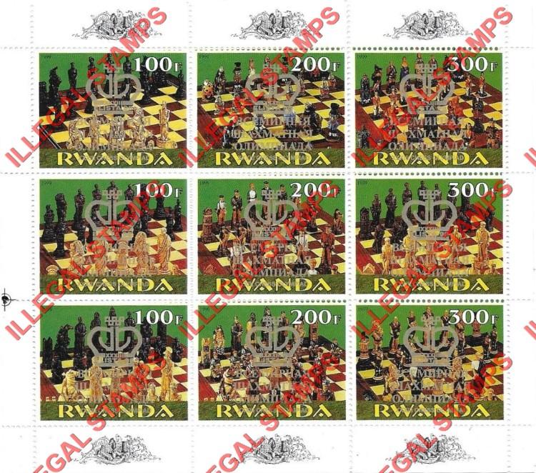 Rwanda Illegal Stamps